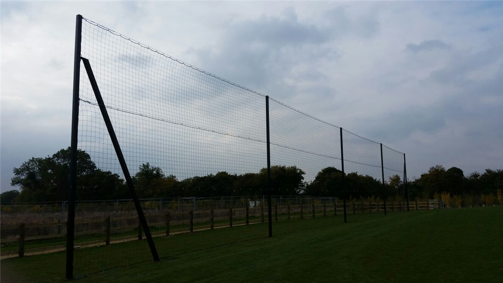 6m high netted football fence Gallery Image