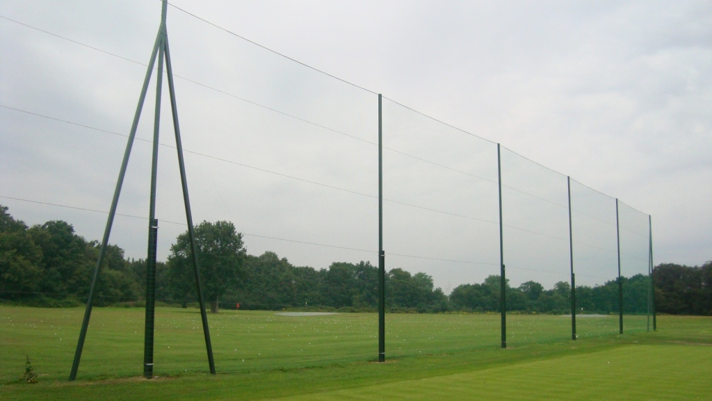 12m high netted golf fence Gallery Image