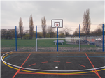 MUGA fence with basketball Gallery Thumbnail