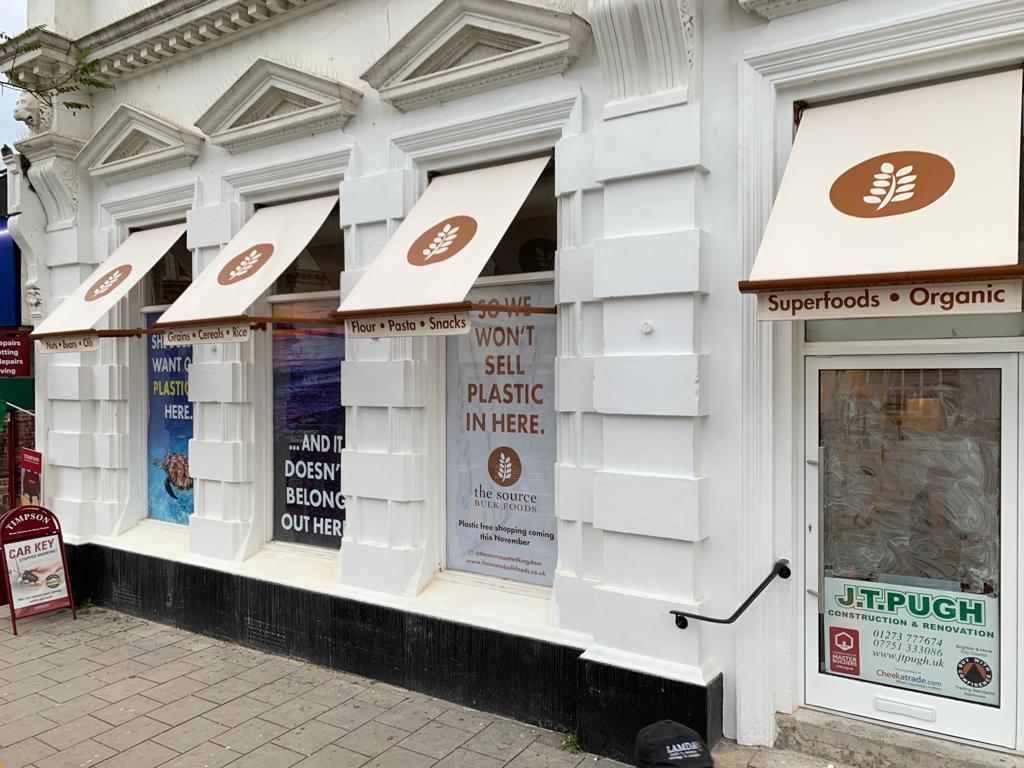 drop arm awnings london brighton fully cassette sign writing Gallery Image