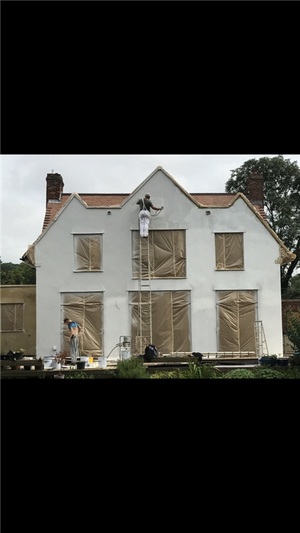 Job in Berkhamsted Herts flat rendered, masked up and river applied Gallery Image
