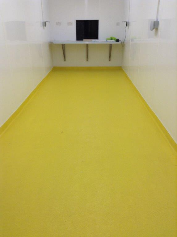 Resbuild MMA Deckcoat, flexible MMA based screed system. Hygienic and slip resistant. Gallery Image