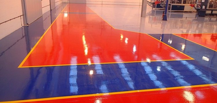 Resbuild SF Coating, high build, solvent free Epoxy floor coating. Gallery Image