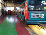 Epoxy coatings used in a bus garage. Gallery Thumbnail
