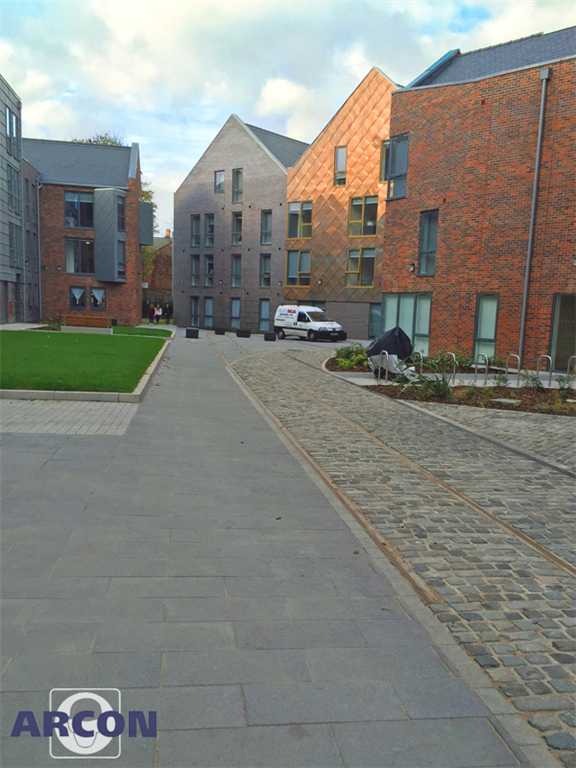 Fast setting strong paving jointing grout used on new student accommodation   Gallery Image