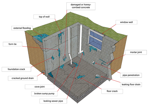 Factors that can cause damp or flooded basements and cellars Gallery Image