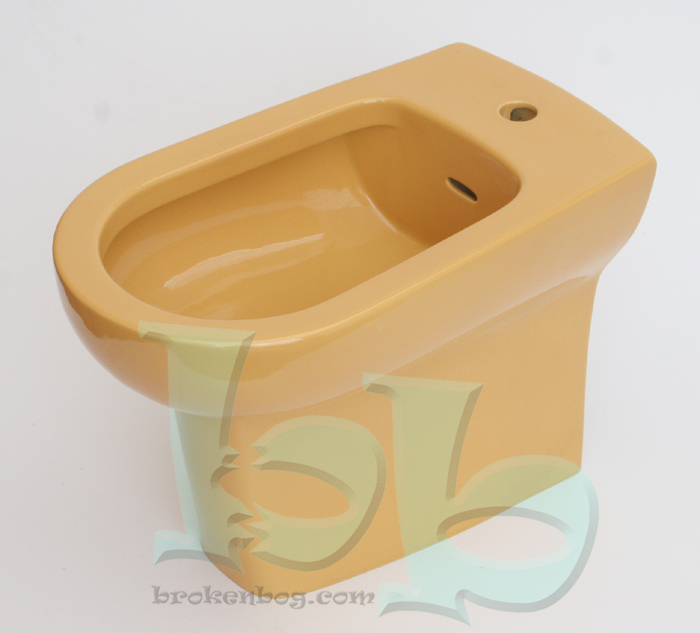 Harvest Gold bidet 1TH - many other colours and styles available Gallery Image