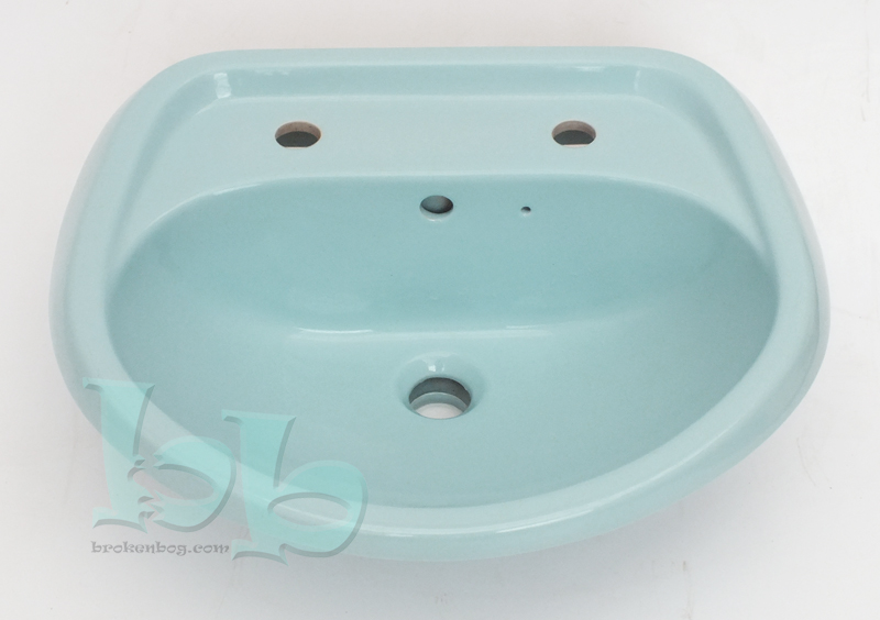 Sky Blue washbasin 2TH - many other colours and styles available Gallery Image