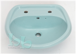 Sky Blue washbasin 2TH - many other colours and styles available Gallery Thumbnail