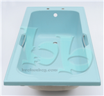Acrylic Twingrip bath in Sky Blue - many other colours and styles available Gallery Thumbnail