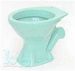 Turquoise low-level toilet pan - many other colours and styles available Gallery Thumbnail