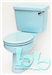 Close-coupled toilet suite in Sky Blue Gallery Thumbnail