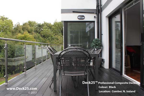 Composite Decking - Deck25 - Black Gallery Image