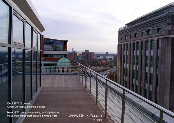 Composite Decking Commercial - Deck25 - Brown - Open University - Belfast Gallery Image