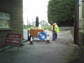 Streetworks Unit 2 Sign Lighting and Guarding Gallery Image