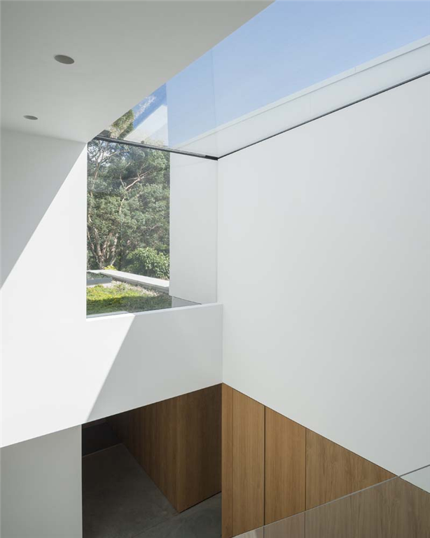 Bespoke eaves roofligh positioned within a stairwell, enabling light to flood into a typically dark, enclosed space Gallery Image