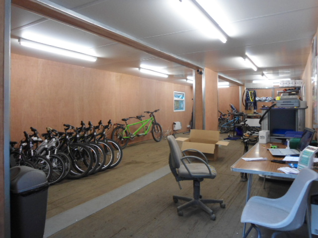Container Conversion of Bicycle Hire Shop. Gallery Image
