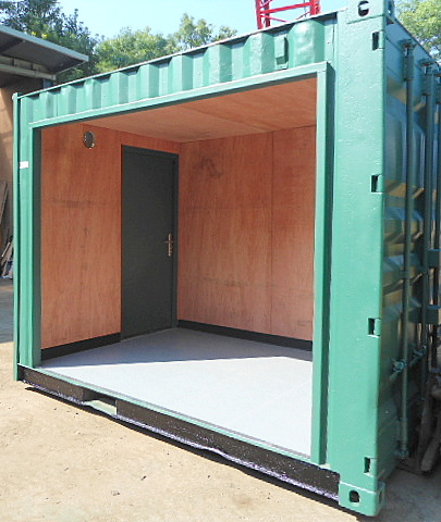 Container Conversion of Newspaper Kiosk with Roller Shutter Door. Gallery Image