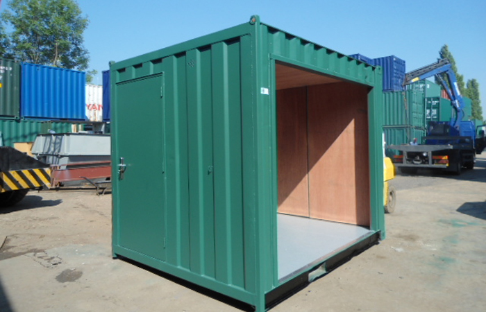 Ply Lined 10' Container with Roller Shutter Side. Gallery Image