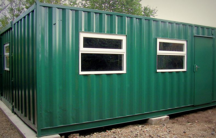 Container Conversion - containers joined together for Golf Club House. Gallery Image