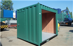 Ply Lined 10' Container with Roller Shutter Side. Gallery Thumbnail