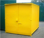 Yellow 10' Container with Single door and Lock Box. Gallery Thumbnail