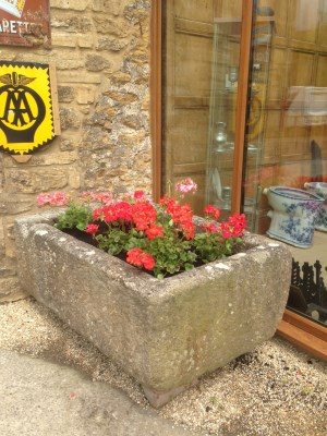 A nice stone trough planted out and ready for use. Gallery Image