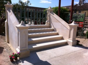 A grand Bath Stone staircase. Gallery Image