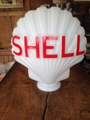 "A glass ""Shell"" petrol globe for £200 + vat Gallery Image"