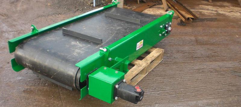 Hydraulic Conveyor Drive : Mainplant magnets conveyor flows hydraulic drive