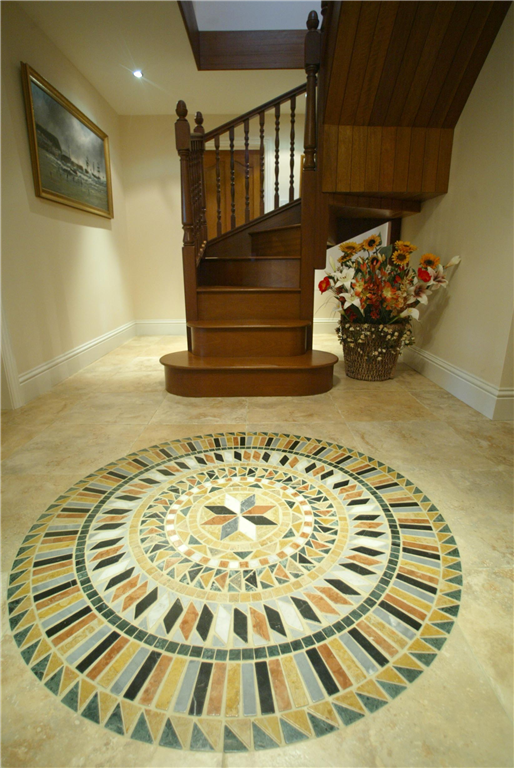 A bespoke circular feature in the hall reflects the circular tower, added to Mill Cottage! Gallery Image
