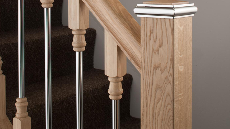 Contemporary Solo Metal and Wood Balustrade Gallery Image