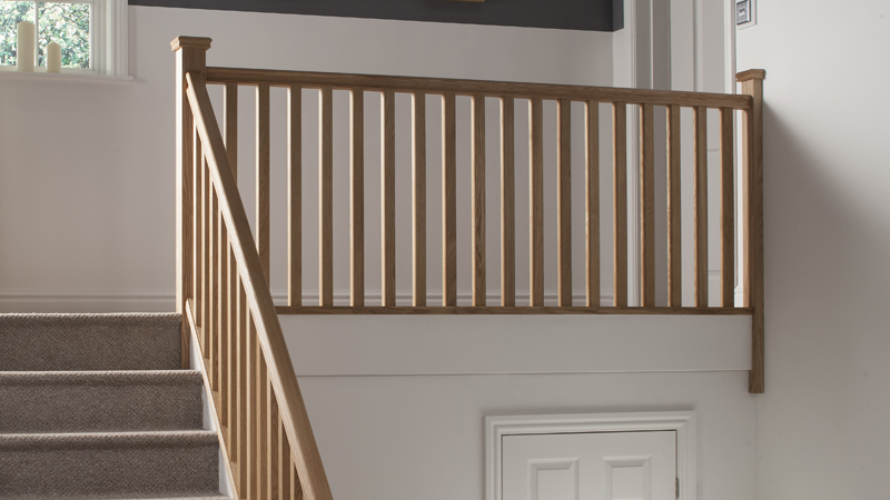 Plain Square Timber Stair Parts Gallery Image
