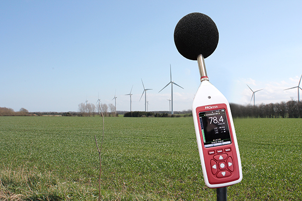 The Optimus+ Green sound level meter, perfectly suited to monitoring wind farm noise. Gallery Image