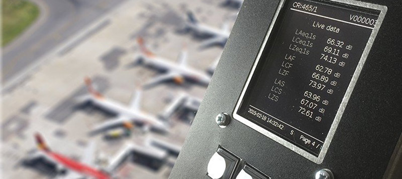 The Galactus integrated noise monitor, perfect for monitoring airport noise. Gallery Image