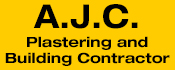 A.J.C. Plastering and Building Contractor Logo