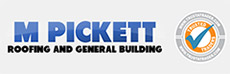 M Pickett Builders & Roofing Logo