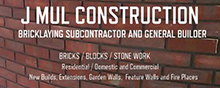 J. Mul Construction, Bricklaying Subcontractors