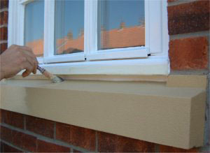 Painting sandstone window sills