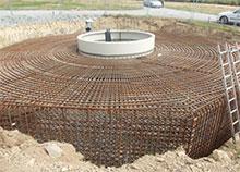 County Steel Fixing Bodmin Wind Turbine Bases Wind