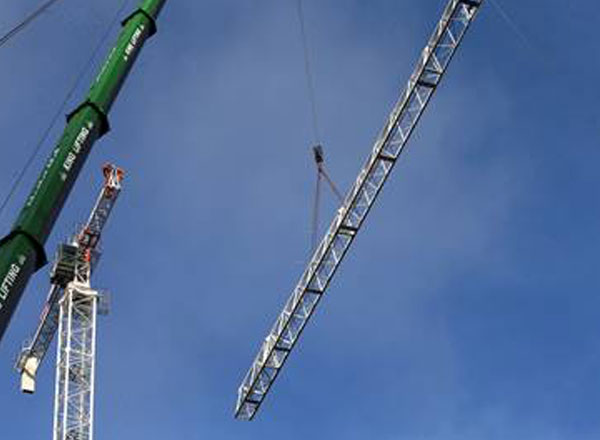 Winvic Erected Two Tower Cranes