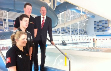 Minister Opens Sports Centre In Wales Uk Construction News