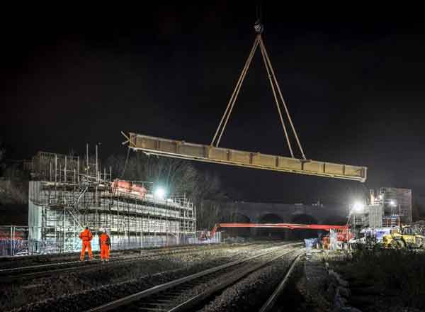 Six Bridge Beams Have Been Lifted Into Place