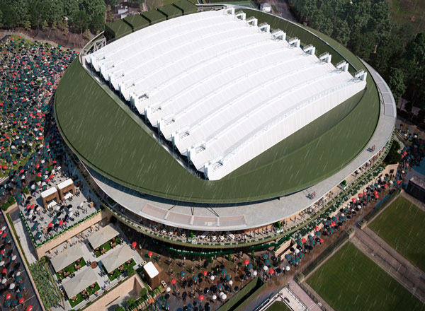 Wimbledon Roof First Used A Centre Court Celebration