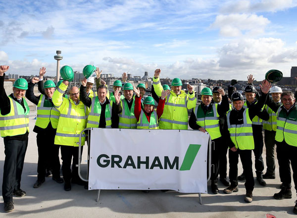 Topping Out Ceremony Held On Liverpool Waterfront